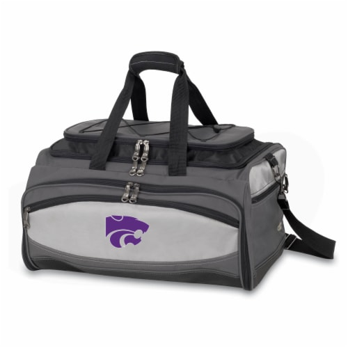 Kansas State Wildcats - Portable Charcoal Grill & Cooler Tote Perspective: front