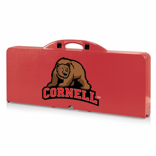 Cornell Big Red - Picnic Table Portable Folding Table with Seats Perspective: front