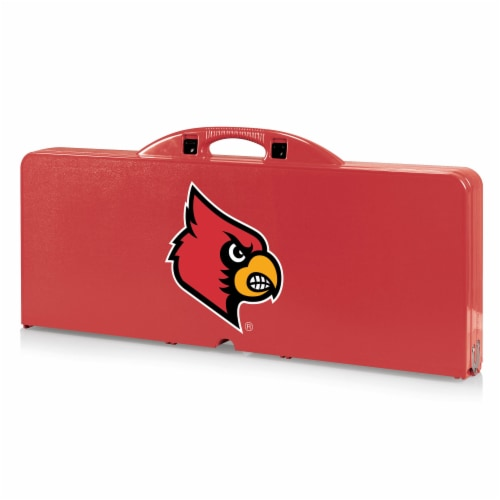 Louisville Cardinals - Picnic Table Portable Folding Table with Seats Perspective: front