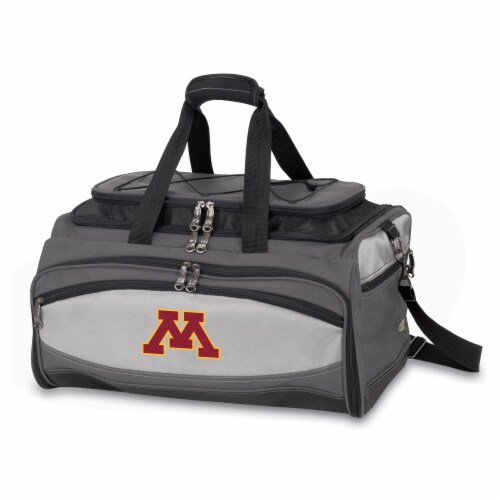 Minnesota Golden Gophers - Portable Charcoal Grill & Cooler Tote Perspective: front