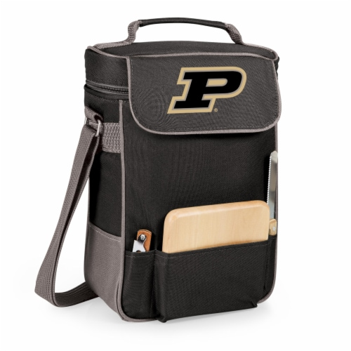Purdue Boilermakers - Duet Wine & Cheese Tote Perspective: front
