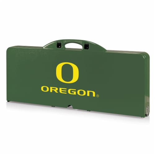 Oregon Ducks - Picnic Table Portable Folding Table with Seats Perspective: front