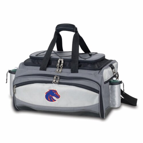 Boise State Broncos - Vulcan Portable Propane Grill & Cooler Tote Perspective: front