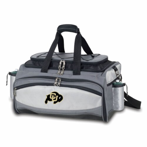 Colorado Buffaloes - Vulcan Portable Propane Grill & Cooler Tote Perspective: front