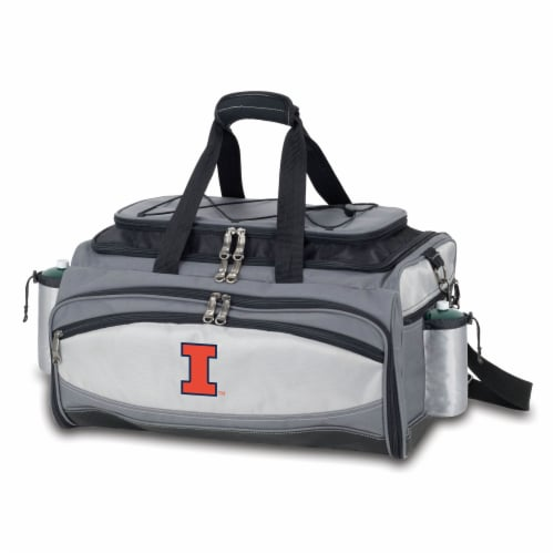Illinois Fighting Illini - Vulcan Portable Propane Grill & Cooler Tote Perspective: front