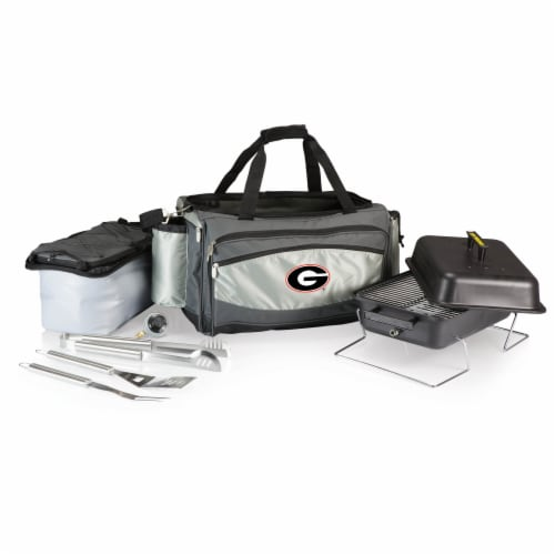 Georgia Bulldogs - Vulcan Portable Propane Grill & Cooler Tote Perspective: front