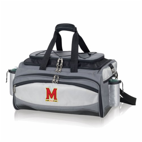 Maryland Terrapins - Vulcan Portable Propane Grill & Cooler Tote Perspective: front