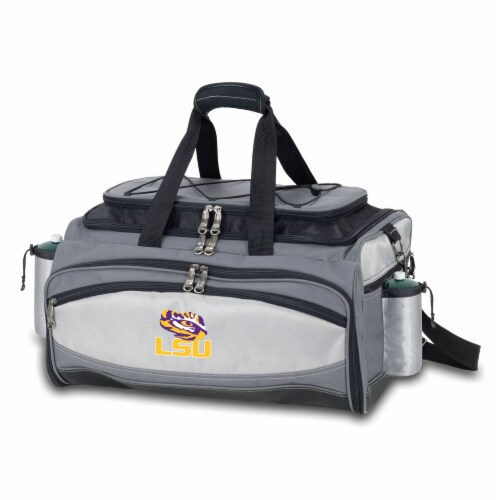 LSU Tigers - Vulcan Portable Propane Grill & Cooler Tote Perspective: front