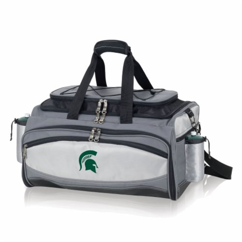 Michigan State Spartans - Vulcan Portable Propane Grill & Cooler Tote Perspective: front