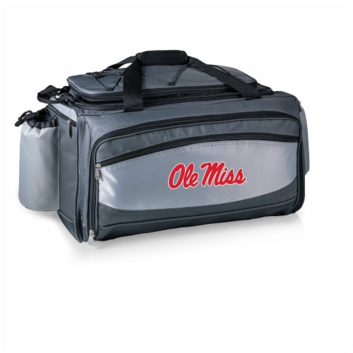 Ole Miss Rebels - Vulcan Portable Propane Grill & Cooler Tote Perspective: front