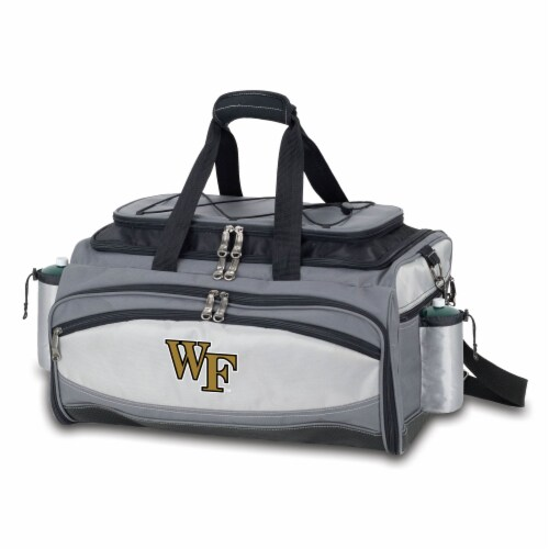Wake Forest Demon Deacons - Vulcan Portable Propane Grill & Cooler Tote Perspective: front