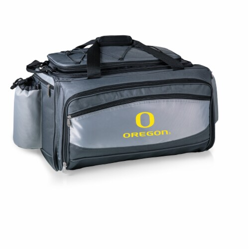 Oregon Ducks - Vulcan Portable Propane Grill & Cooler Tote Perspective: front