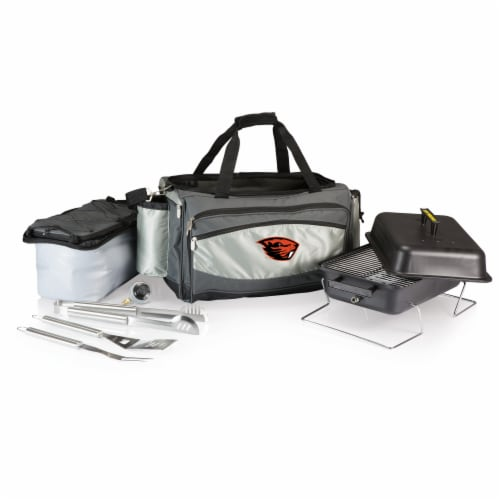 Oregon State Beavers - Vulcan Portable Propane Grill & Cooler Tote Perspective: front