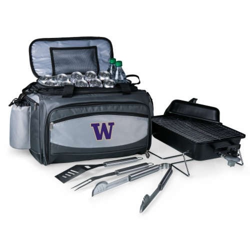 Washington Huskies - Vulcan Portable Propane Grill & Cooler Tote Perspective: front