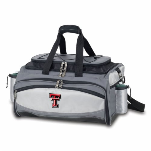 Texas Tech Red Raiders - Vulcan Portable Propane Grill & Cooler Tote Perspective: front