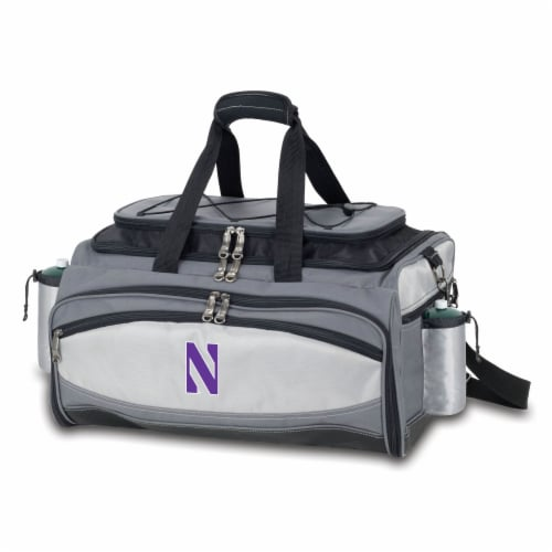 Northwestern Wildcats - Vulcan Portable Propane Grill & Cooler Tote Perspective: front