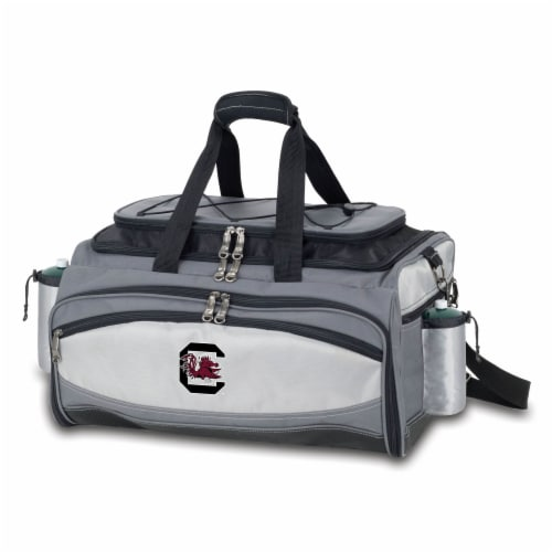South Carolina Gamecocks - Vulcan Portable Propane Grill & Cooler Tote Perspective: front