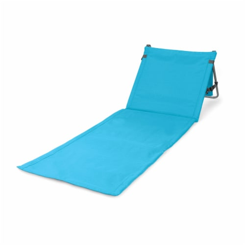 Beachcomber Portable Beach Chair & Tote, Blue Perspective: front