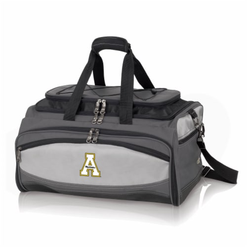App State Mountaineers - Portable Charcoal Grill & Cooler Tote Perspective: front