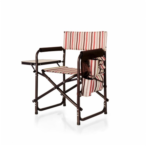 Sports Chair, Moka Collection - Brown with Beige & Red Accents Perspective: front