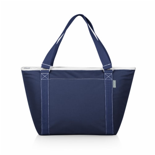 Topanga Cooler Tote Bag, Navy Blue Perspective: front