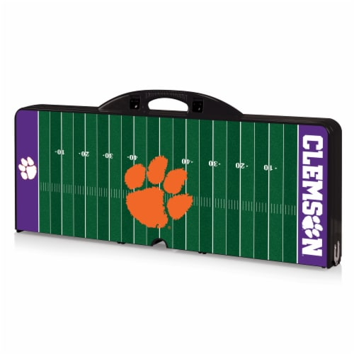 Clemson Tigers Portable Picnic Table Perspective: front