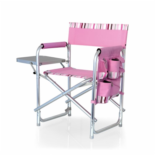 Sports Chair, Pink Stripe Perspective: front