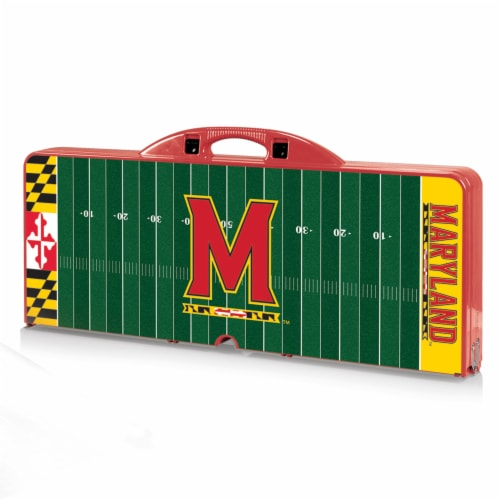 Maryland Terrapins - Picnic Table Portable Folding Table with Seats Perspective: front