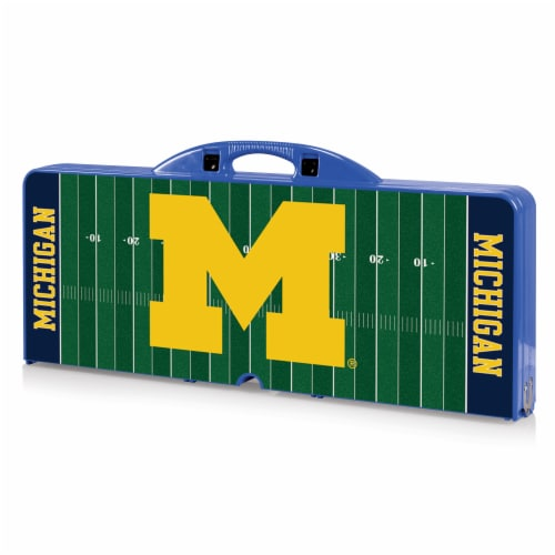 Michigan Wolverines Portable Picnic Table Perspective: front