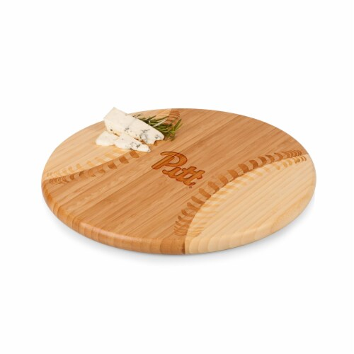 Pitt Panthers - Home Run! Baseball Cutting Board & Serving Tray Perspective: front