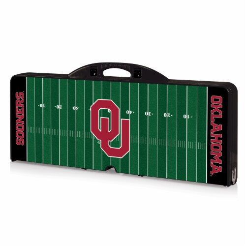 Oklahoma Sooners Portable Picnic Table Perspective: front
