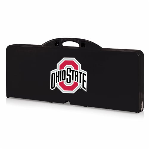 Ohio State Buckeyes - Picnic Table Portable Folding Table with Seats Perspective: front