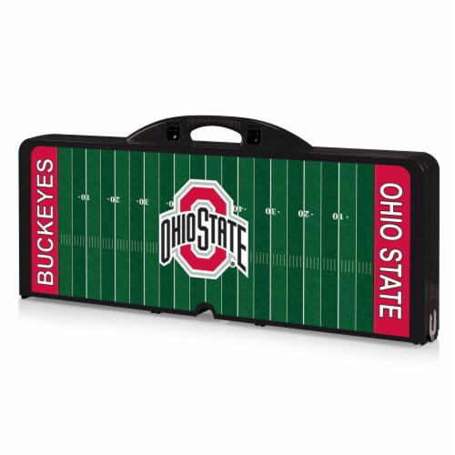 Ohio State Buckeyes Portable Picnic Table Perspective: front