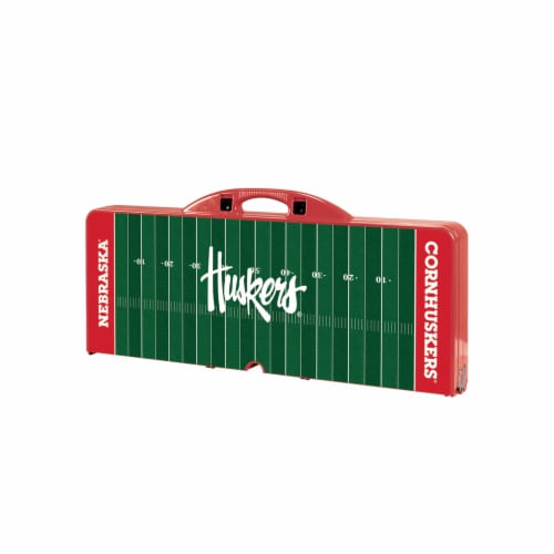 Nebraska Cornhuskers - Picnic Table Portable Folding Table with Seats Perspective: front
