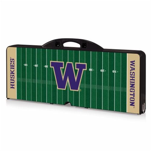 Washington Huskies Portable Picnic Table Perspective: front