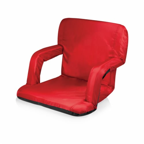 Ventura Portable Reclining Stadium Seat, Red Perspective: front