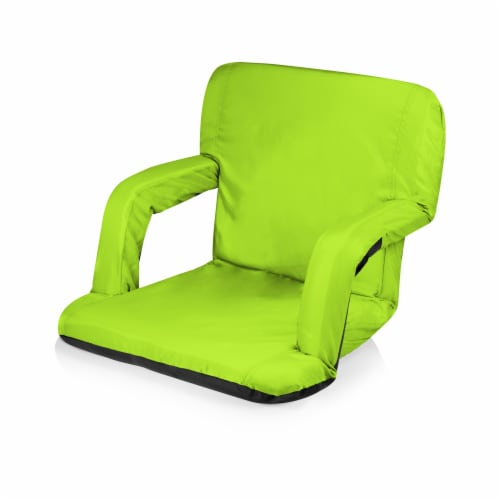 Ventura Portable Reclining Stadium Seat, Lime Green Perspective: front