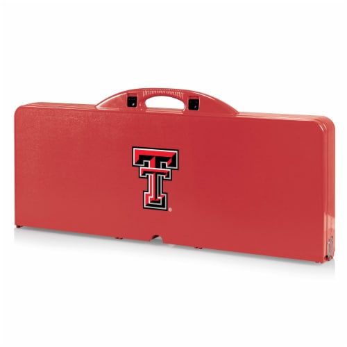 Texas Tech Red Raiders - Picnic Table Portable Folding Table with Seats Perspective: front