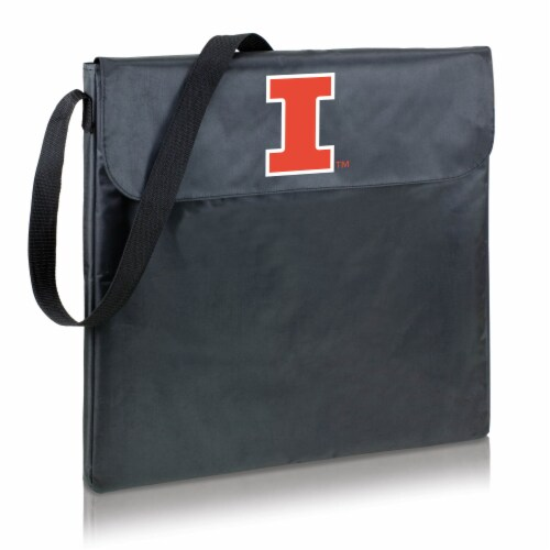 Illinois Fighting Illini - X-Grill Portable Charcoal BBQ Grill Perspective: front