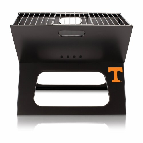 Tennessee Volunteers - X-Grill Portable Charcoal BBQ Grill Perspective: front