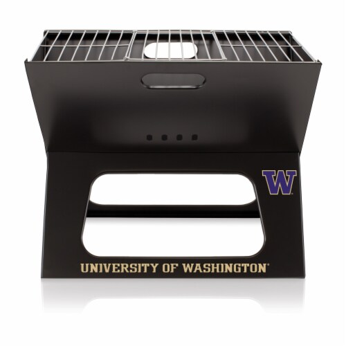 Washington Huskies - X-Grill Portable Charcoal BBQ Grill Perspective: front