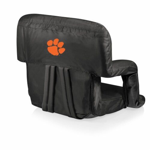 Clemson Tigers Ventura Portable Reclining Stadium Seat - Black Perspective: front