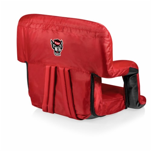 NC State Wolfpack Ventura Portable Reclining Stadium Seat Perspective: front