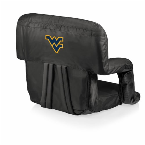 West Virginia Mountaineers - Ventura Portable Reclining Stadium Seat Perspective: front