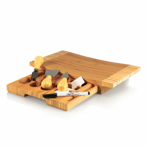 Concavo Cheese Cutting Board & Tools Set, Bamboo Perspective: front