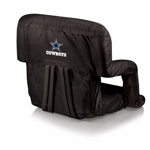 Dallas Cowboys Ventura Portable Reclining Stadium Seat - Black Perspective: front