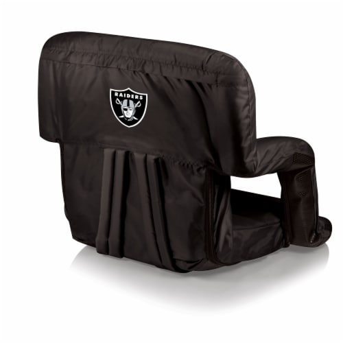 Oakland Raiders Ventura Portable Reclining Stadium Seat - Black Perspective: front