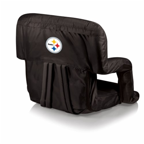 Pittsburgh Steelers Ventura Portable Reclining Stadium Seat - Black Perspective: front
