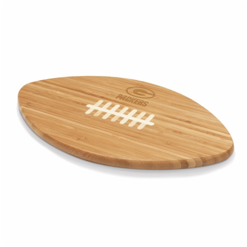 Green Bay Packers Touchdown! Football Cutting Board & Serving Tray Perspective: front