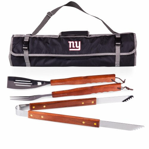 New York Giants - 3-Piece BBQ Tote & Grill Set Perspective: front